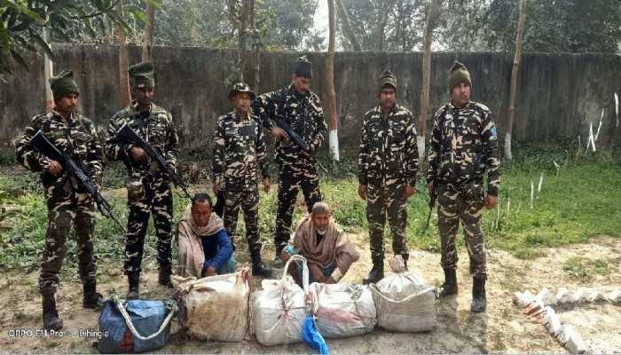 इंडो-नेपाल बॉर्डर से 50 किलो गांजा के साथ 2 तस्कर गिरफ्तार, गुप्त सूचना के आधार पर हुई कार्रवाई