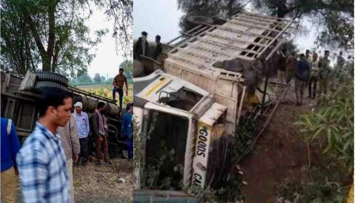 महाराष्ट्र के जलगांव में ट्रक पलटने से 15 मजदूरों की मौत
