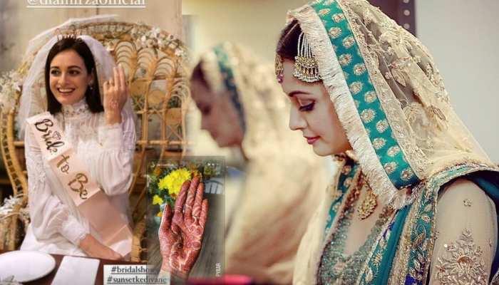 Dia Mirza के हाथों में रची Vaibhav Rekhi के नाम की मेहंदी, यहां देखें शादी की तैयारियां
