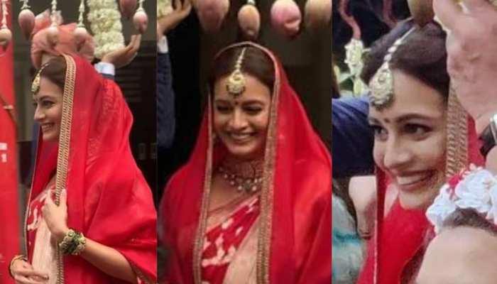 Dia Mirza Bridal Look: इस जोड़े में दीया लेंगी सात फेरे, लग रहीं परी की तरह खूबसूरत