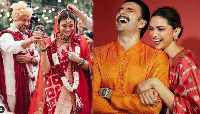 दुल्हन Dia Mirza ने कॉपी किया Deepika Padukone का लुक! देखिए ये PHOTOS