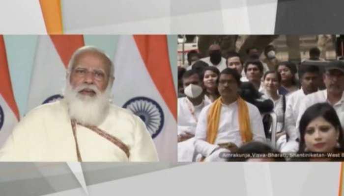 दीक्षांत समारोह में बोले PM मोदी-विश्व भारती को देश की शिक्षा संस्थाओं का नेतृत्व करना चाहिए