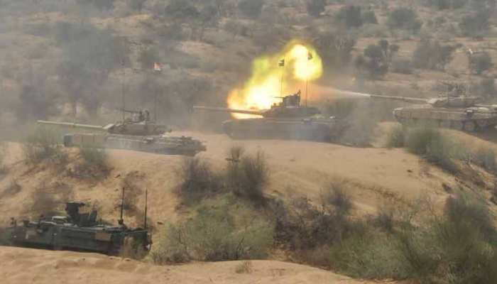 India and US Army conduct joint Military drills near Pakistan Border in Rajasthan with BMP II Sarath and Stryker Tank