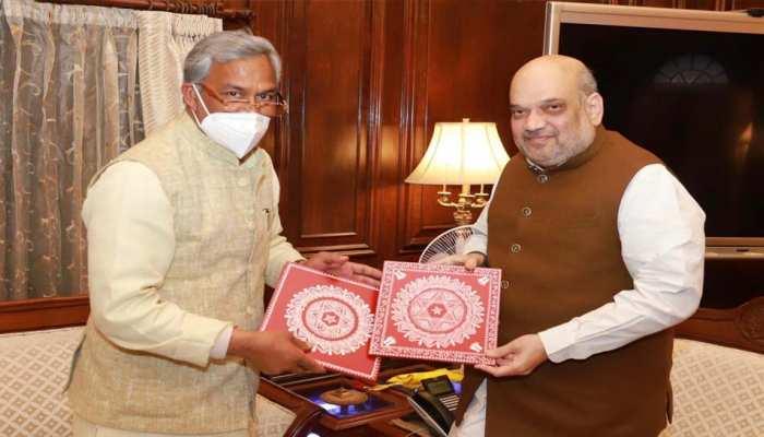 सीएम त्रिवेंद्र ने केंद्रीय गृहमंत्री अमित शाह से की मुलाकात, इन बिंदुओं पर की चर्चा
