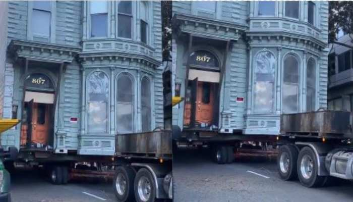 Viral Video: देखें कैसे दो मंजिले इमारत को एक जगह से दूसरी जगह पर किया गया शिफ्ट