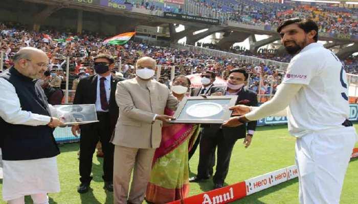 IND vs ENG: Narender Modi stadium में Ishant Sharma ने खेला 100वां टेस्ट, राष्ट्रपति ने किया सम्मानित