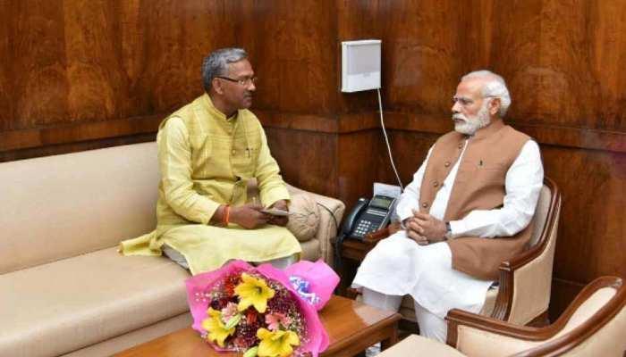 सीएम त्रिवेंद्र ने की प्रधानमंत्री नरेंद्र मोदी से मुलाकात, इन विषयों पर की चर्चा