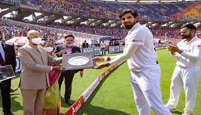 100 वें टेस्ट में इशांत शर्मा को राष्ट्रपति और गृहमंत्री ने किया सम्मानित