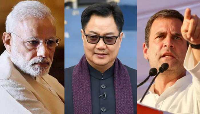 Narendra Modi Stadium के नाम पर आलोचनाएं करने वाले को Kiren Rijiju का करारा जवाब, Rahul Gandhi पर साधा निशाना