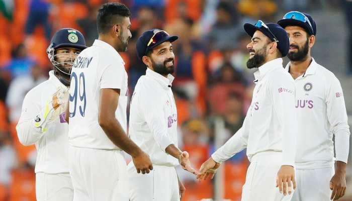 India vs england test match axar patel rohit sharma indian team wins pink ball test day night