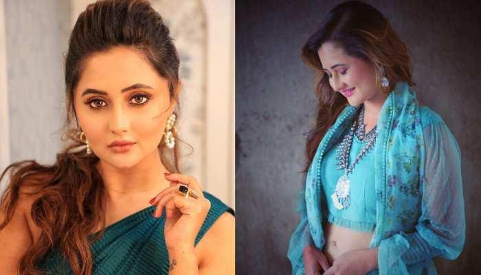 Rashami Desai blue saree look are new fashion choices