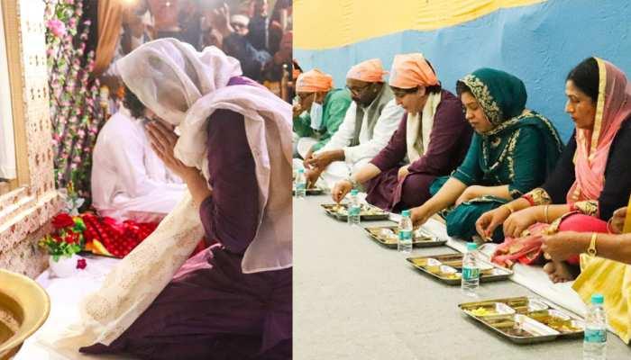 वाराणसी में प्रियंका गांधी का भव्य स्वागत, संत रविदास के आगे मत्था टेका, लंगर छका