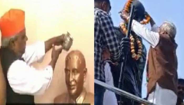 'गोडसे प्रेमी' की गांधी भक्ति! कांग्रेस में घर वापसी के बाद बापू की शरण में पहुंचे बाबूलाल चौरसिया