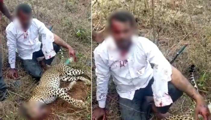 परिवार को बचाने के लिए निहत्था ही चीता से भिड़ गया युवक, देखें रोंगटे खड़े कर देने वाला Video