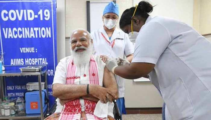 PM Narendra Modi ने ली Corona Vaccine की पहली डोज, ट्वीट कर लोगों से कही ये बात