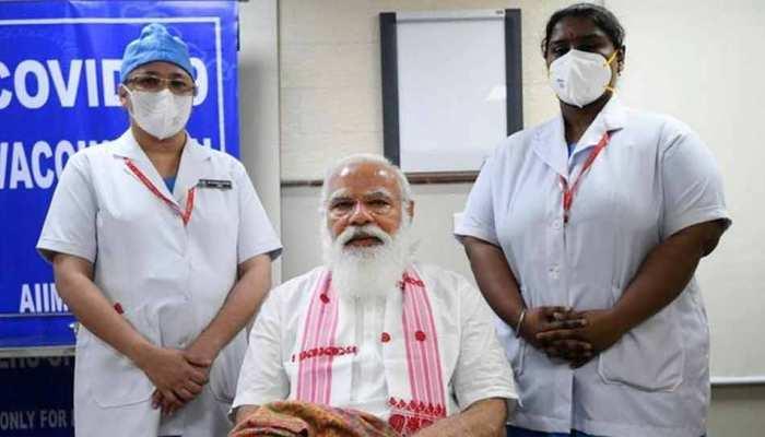 Corona Vaccine लगवाने से पहले PM Modi नर्स से बोले- मोटी सुई लगाना, मोटी चमड़ी के होते हैं नेता; देखें ये VIDEO