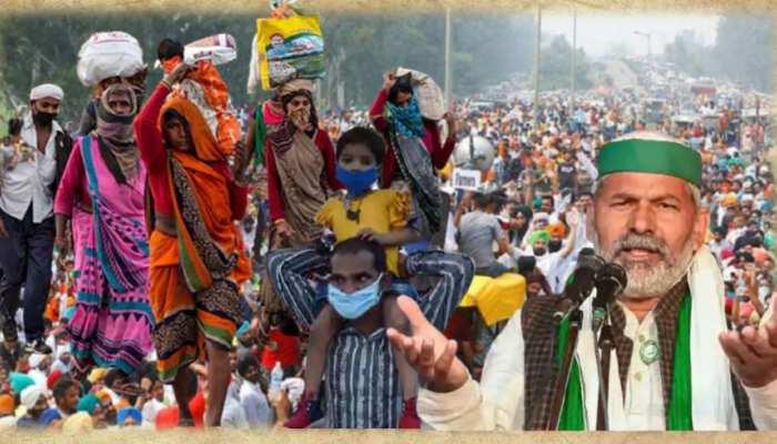 farmers protest: प्रवासी मजदूरों पर 'आंदोलनजीवी गैंग' का कहर!