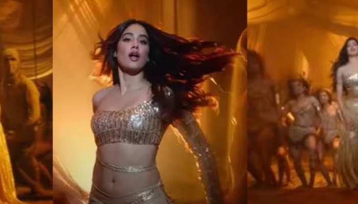 'पनघट' के बाद 'नदियों पार' से Janhvi Kapoor ने लगा दी आग, दिखा जबरदस्त बेली डांस