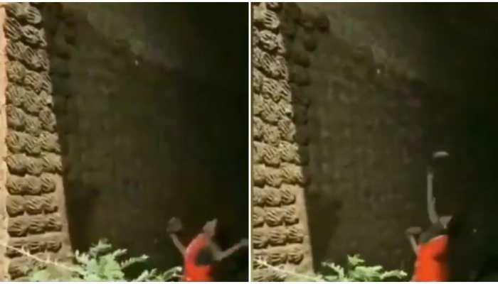 Viral Video: महिला ने गोबर से सजाई दीवार, Social Media पर हुनर की हुई तारीफ