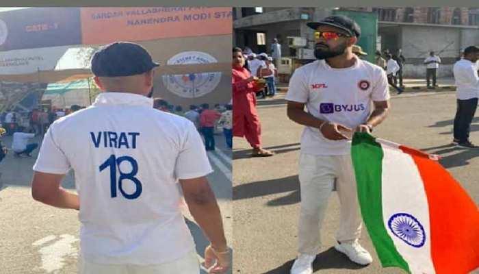 IND vs ENG: टेस्ट जर्सी पहन स्टेडियम में पहुंचा Virat Kohli का डुप्लीकेट, हैरान रह गए लोग