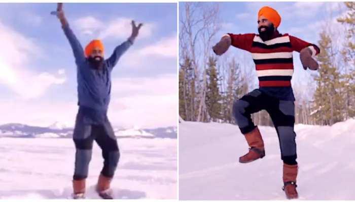 Viral Video: Corona Vaccine लगवाकर खुशी से झूम उठे Gurdeep Pandher, Canada में किया Bhangra Dance