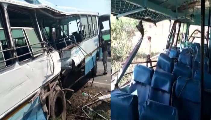 Aligarh: आपस में टकराई दो रोडवेज़ बसें, 4 लोगों की मौत, 30 घायल