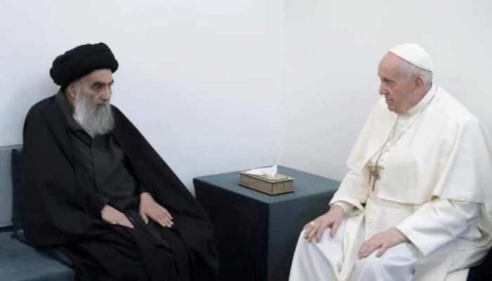 सैय्यद अली सीस्तानी से पोप की तारीख़ी मुलाक़ात, दो धर्मों के बीच इत्तेहाद का नया आग़ाज़