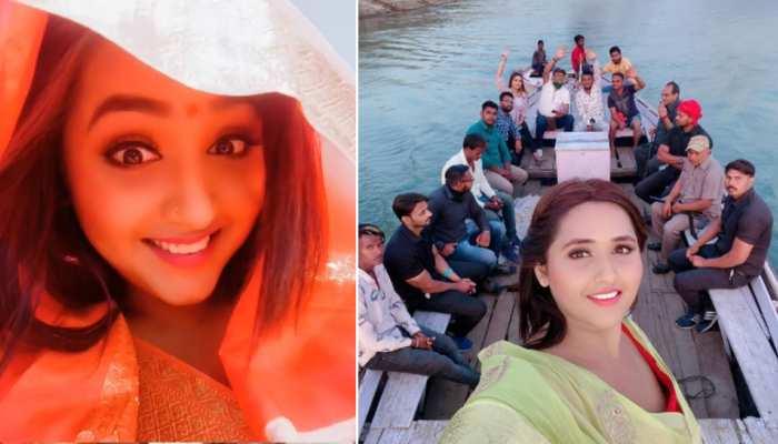 """काजल राघवानी की """"घूंघट यात्रा"""": बनारस में नाव की सवारी करते हुए शेयर किया VIDEO"""