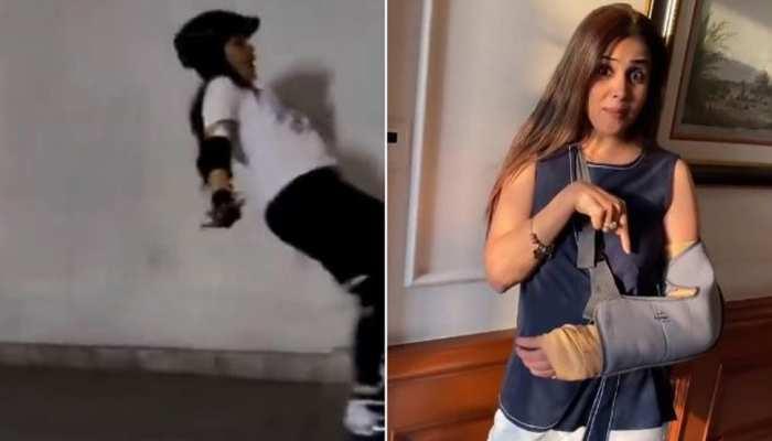 रितेश देशमुख की पत्नी जेनेलिया के हाथ में लगी शदीद चोट, स्केटिंग के दौरान धड़ाम से, देखिए VIDEO