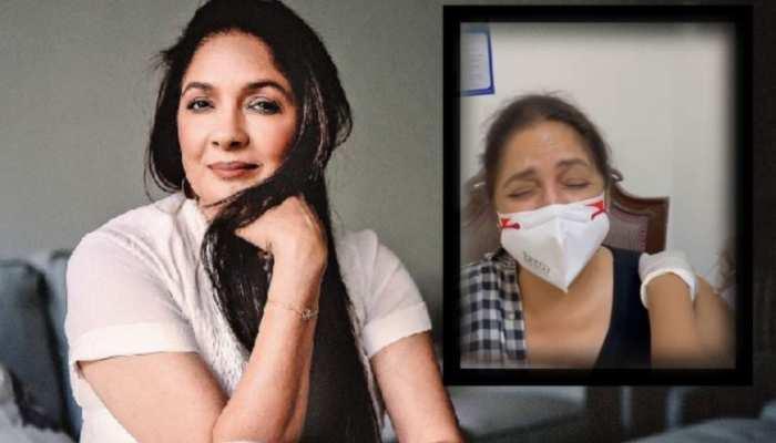 कोरोना वैक्सीन लगवाते हुए बच्चों की तरह रोईं Neena Gupta, क्या आपने देखा वीडियो?