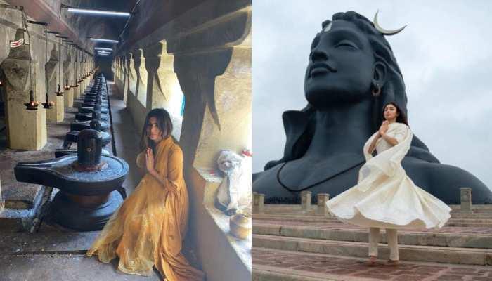महाशिवरात्रि पर शिव भक्ति में खोईं मौनी रॉय, सोशल मीडिया पर वायरल हुईं तस्वीरें