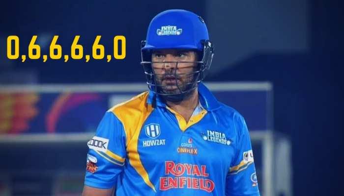 Yuvraj Singh is Back, लगातार चार गेंदों में लगाए 6,6,6,6