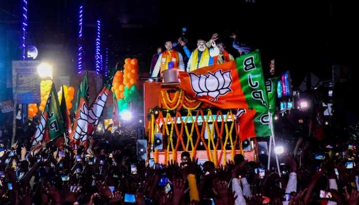 West Bengal: खड़गपुर में Amit Shah का मेगा रोड शो, बोले- बंगाल को सोनार बांग्ला में बदलेगी BJP