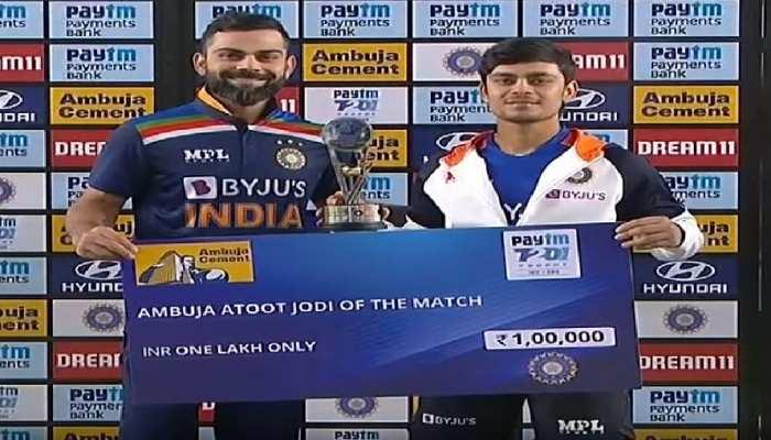डेब्यू मैच में 'मैन ऑफ द मैच' बने ईशान किशन, इंग्लैंड को हराकर भारत ने 1-1 से बराबर की सीरीज