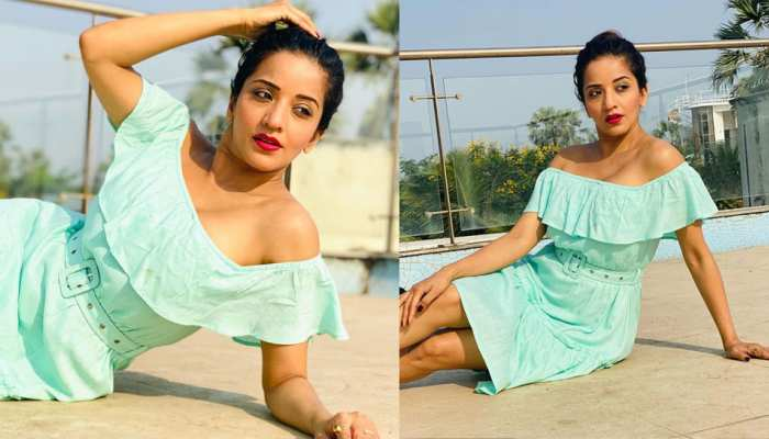 Bhojpuri Actress Monalisa In Off shoulder dress looking gorgeous