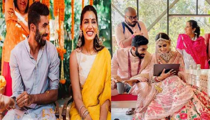 Jasprit Bumrah-Sanjana Ganesan unseen wedding photos