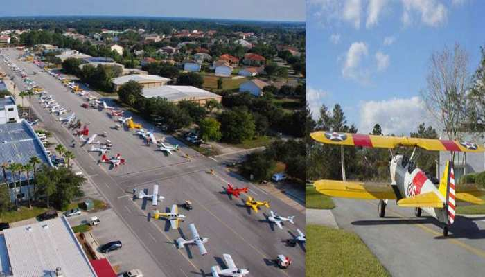 US: फ्लोरिडा के इस इलाके में गैराज के बजाए लोग बनवाते हैं हैंगर, जानिए क्यों