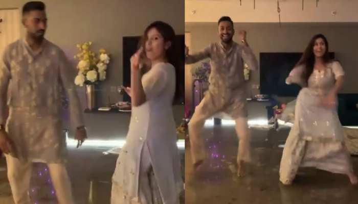 'कजरारे' सॉन्ग पर Krunal Pandya ने पत्नी Pankhuri Sharma के साथ किया जबरदस्त डांस, देखिए Viral Video