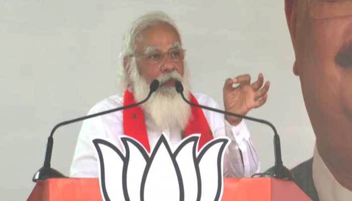 """बंगाल में बोले PM मोदी,""""दीदी आप मेरे सिर पर पैर रख लीजिए, लात मार लीजिए लेकिन..."""""""