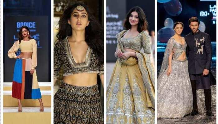 kiara advani sara ali khan ananya panday walk in lakme fashion week 2021