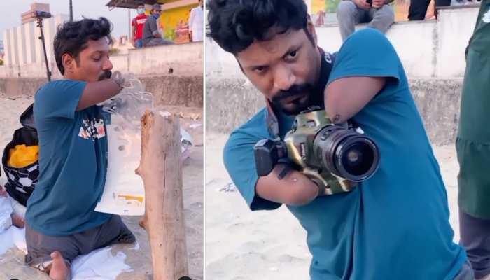 दोनों हाथ-पैर नहीं, लेकिन बच्ची की फोटोग्राफ ऐसे किया कैप्चर, देखकर रह जाएंगे दंग- देखें पूरा VIDEO