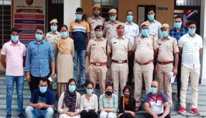 Alwar Police ने Delhi में मारी रेड, 4 महिलाओं सहित 6 लोग गिरफ्तार, करते थे गलत काम