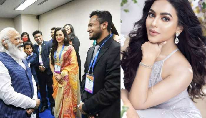 know who is viral girl nusraat faria with pm modi