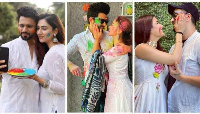television couple celebrated holi with love aly goni jasmin bhasin