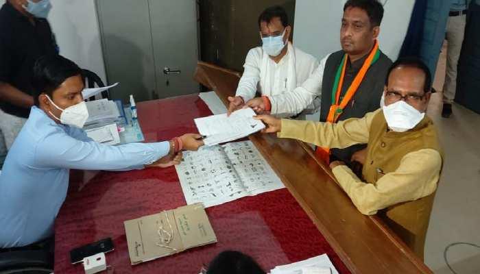 दमोह उपचुनाव: BJP प्रत्याशी राहुल लोधी ने भरा नामांकन, CM शिवराज ने चुनाव से पहले किया बड़ा दावा
