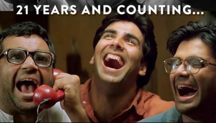 Hera Pheri के पूरे हुए 21 साल, Akshay Kumar - Sunil Shetty को याद आया ये मजेदार सीन