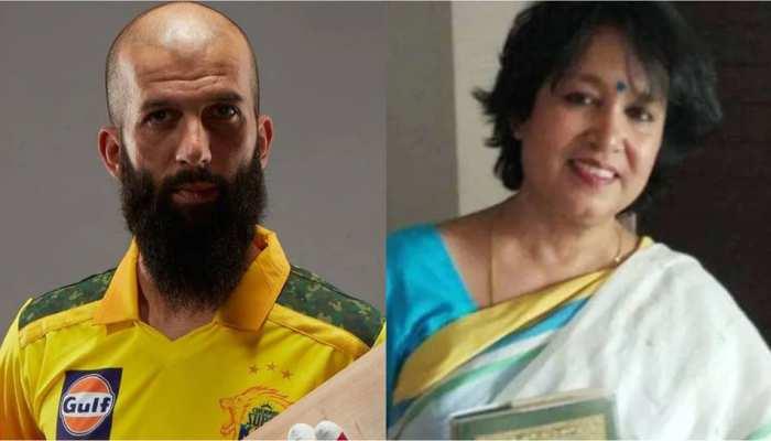 IPL 2021: Moeen Ali के विवाद में उनके पिता Munir Ali की एंट्री, Taslima Nasreen को बताया 'Islamophobic'