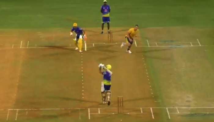 IPL 2021: CSK के Practice Match में MS Dhoni ने लूटी महफिल, Stumping से लेकर Batting में दिखा माही का जलवा