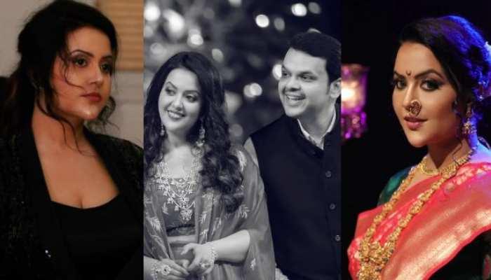 Maharashtra former cm devendra fadnavis wife amruta fadnavis is best example of beauty with brain