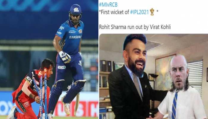 IPL 2021: Virat Kohli ने किया Rohit Sharma को रन आउट, सोशल मीडिया पर लोगों ने बना दिए मीम